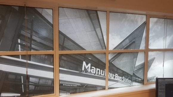 Manukau Bus Station printed graphics