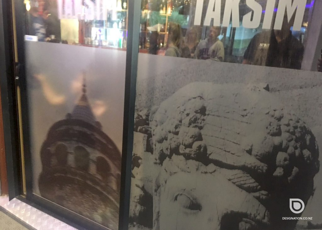 Printed graphics for window frosting