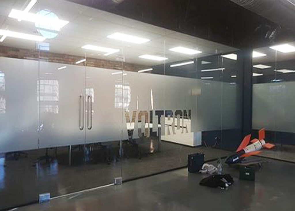 Voltron window frosting, branding and privacy