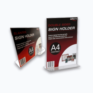 Acrylic Sign and Menu Holders