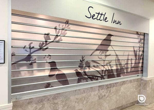 Printing graphics for window frosting, tui bird